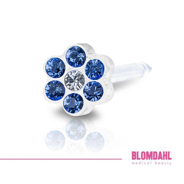 Blomdahl Kolczyk Daisy sapphire/crystal 1 szt.