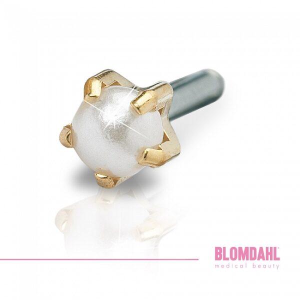 Blomdahl Kolczyk Golden Titanium Pearl 4mm 1szt