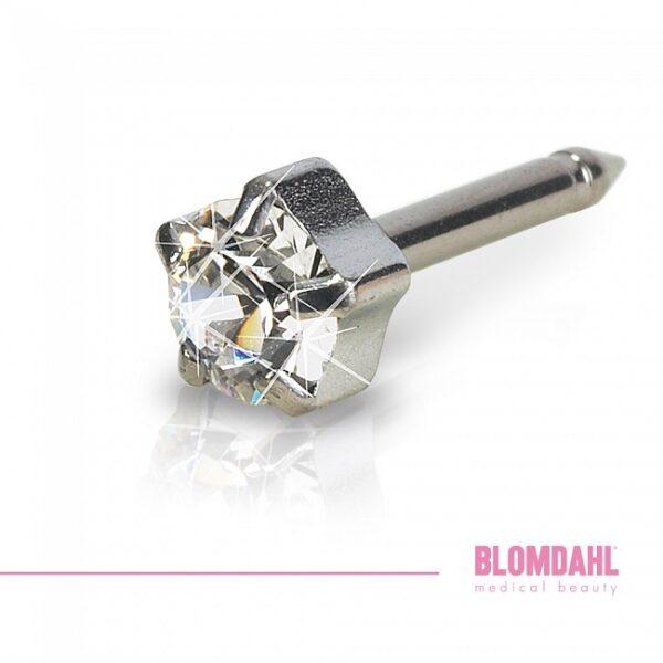 Blomdahl Kolczyk tytan tiffany crystal 5mm 1szt.