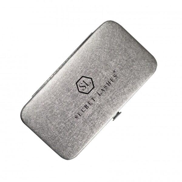 Secret Lashes Etui na pincety – srebrne box
