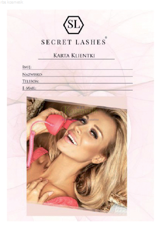 Secret Lashes Karta Klientki 10szt.