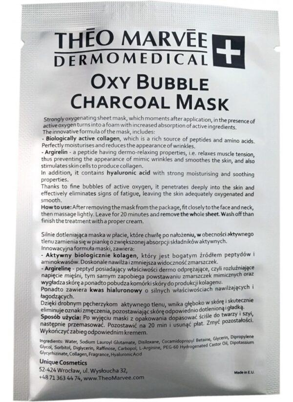 TheoMarvee Oxy Bubble Charcoal Mask 1 płat
