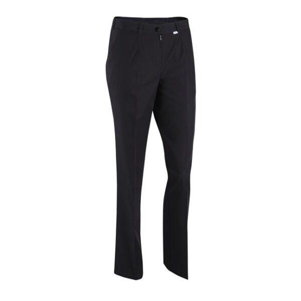 V Spodnie kolor. amarant/czarne