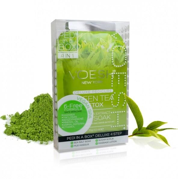 Voesh Delux Pedicure Green Tea Detox 4 Kroki
