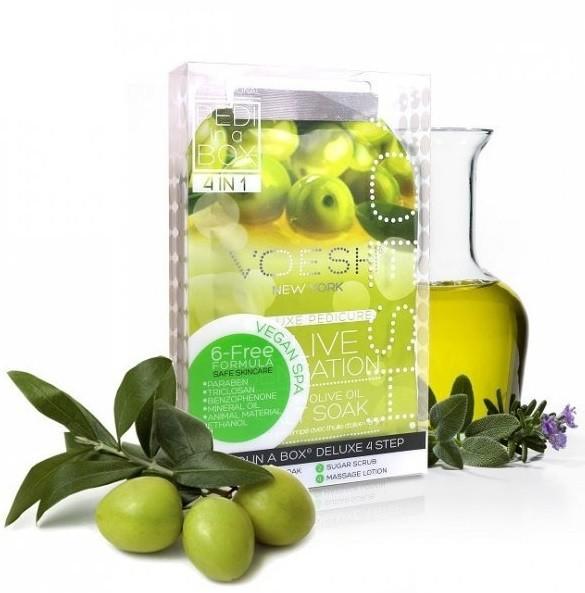 Voesh Delux Pedicure Olive Sensation 4 Kroki