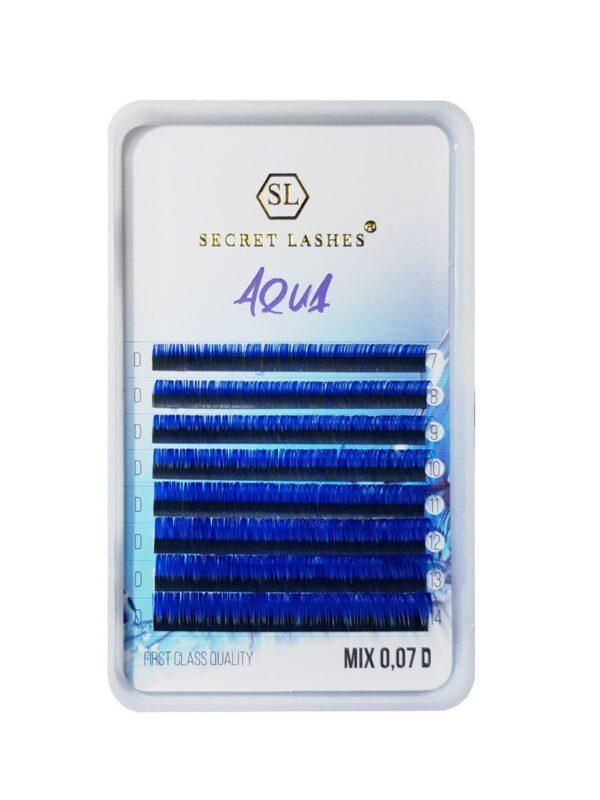 Secret Lashes Rzęsy Colour Aqua MIX C 0,07