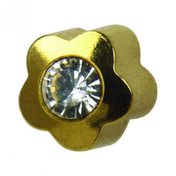 Studex Kolczyki złoty kwiatek z oczkiem
