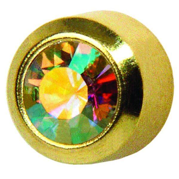 Studex kolczyki oprawa pełna złota kryształ opaliz